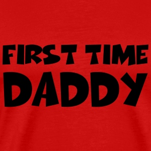First time Daddy T-skjorter - Premium T-skjorte for menn