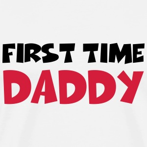 First time Daddy T-Shirts - Men's Premium T-Shirt