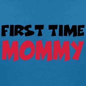 First time Mommy Tee shirts - T-shirt col V Femme