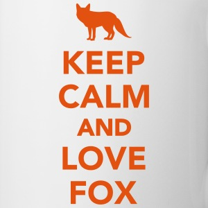 Keep calm and love fox Flaschen & Tassen - Tasse
