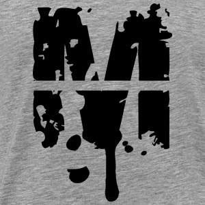 M graffiti stamp drops T-Shirts - Men's Premium T-Shirt