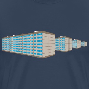 Apartment housing estate East 3D T-Shirts - Men's Premium T-Shirt
