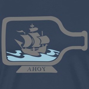 Bottles ship old pirate ship T-Shirts - Men's Premium T-Shirt