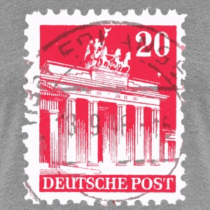 Berlin T-Shirt Brandenburger Tor Briefmarke 1948 ( - Frauen Premium T-Shirt