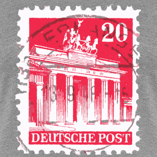 Berlin Briefmarke Brandenburger Tor Rot
