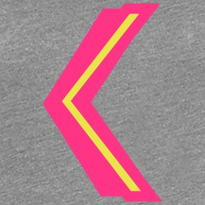 K arrow show left right top bottom T-Shirts - Women's Premium T-Shirt