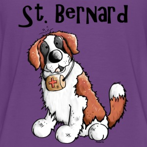 Droll Saint Bernard - Dog Shirts - Teenage Premium T-Shirt