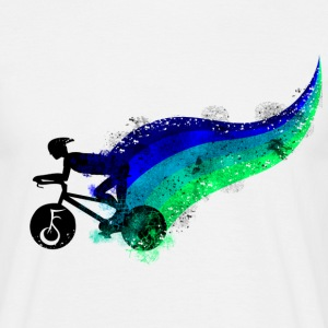 Biker in Blue T-Shirts - Männer T-Shirt