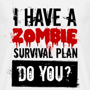 I have a zombie plan - Männer T-Shirt
