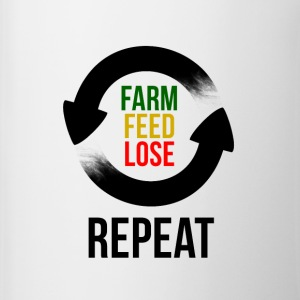 Farm Feed Lose Repeat Flaschen & Tassen - Tasse