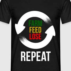 Farm Feed Lose Repeat in Weiß T-Shirts - Männer T-Shirt