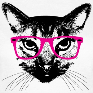 Hipster Katze Pinke Brille - Hipster Cat glasses T-Shirts - Frauen T-Shirt