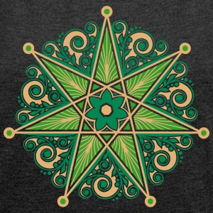 Elven Star, Perfection & Protection, Heptagram,  T-Shirts - Women's T-shirt with rolled up sleeves