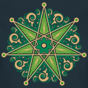 Elven Star, Perfection & Protection, Heptagram,  T-shirts - T-shirt dam