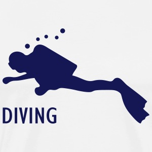 Taucher diving T-Shirts - Männer Premium T-Shirt