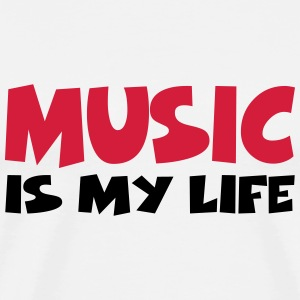 Music is my life T-shirts - Mannen Premium T-shirt