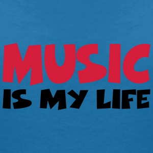 Music is my life T-shirts - Vrouwen T-shirt met V-hals