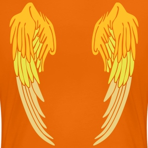 Angel Wings Feather T-Shirts - Women's Premium T-Shirt