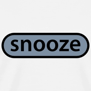 snooze button T-skjorter - Premium T-skjorte for menn