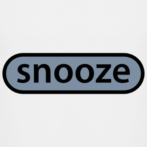 snooze button T-shirts - Teenager premium T-shirt
