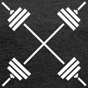 Weights Cross T-Shirts - Frauen T-Shirt mit gerollten Ärmeln