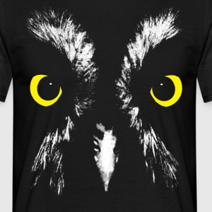 Owl Face Graphic T-Shirt - Men's T-Shirt