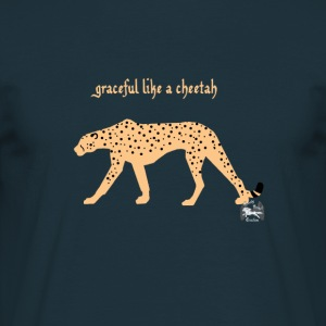 graceful like a cheetah - Männer T-Shirt - Männer T-Shirt