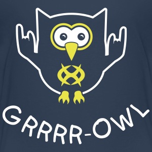 Growling owl Shirts - Kids' Premium T-Shirt