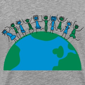 Children girls young peace friends of Earth T-Shirts - Men's Premium T-Shirt