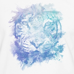 Tiger Face - Abstract Creative Watercolor Style T-Shirts - Men's Ringer Shirt