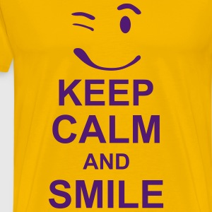 keep_calm_and_smile_g1s T-shirts - Premium-T-shirt herr
