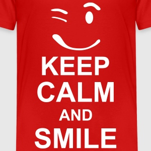 keep_calm_and_smile_g1s Shirts - Kinderen Premium T-shirt
