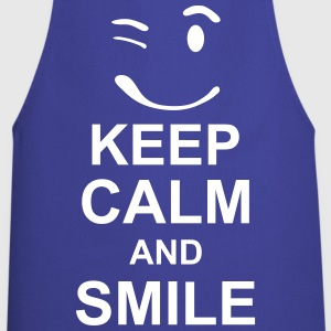 keep_calm_and_smile_g1s Tabliers - Tablier de cuisine