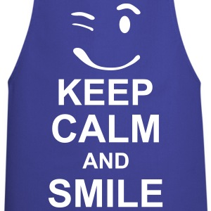 keep_calm_and_smile_g1s  Aprons - Cooking Apron