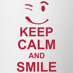 keep_calm_and_smile_g1s Flasker & krus - Tofarvet krus