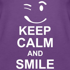 keep_calm_and_smile_g1s Topy - Tank top damski Premium