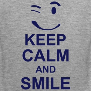 keep_calm_and_smile_g1s Tank Tops - Männer Premium Tank Top