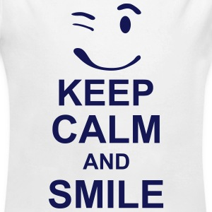keep_calm_and_smile_g1s Sweats - Body bébé bio manches longues