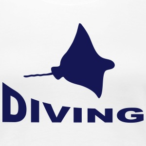 Diving - Rochen T-Shirts - Frauen Premium T-Shirt