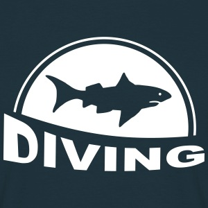 Diving shark - tauchen T-Shirts - Männer T-Shirt