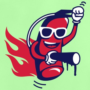 A funny fire extinguisher with glasses  Shirts - Baby T-Shirt