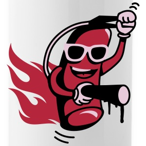 A funny fire extinguisher with glasses  Bottles & Mugs - Water Bottle