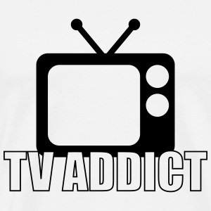 TV Addict T-shirts - Herre premium T-shirt