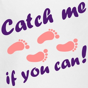 catch me if you can, baby feet Hoodies - Longlseeve Baby Bodysuit