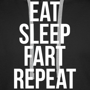 eat sleep fart repeat Bluzy - Bluza męska Premium z kapturem