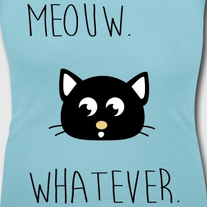 Meouw whatever, Meow, cat. Hipster T-Shirts - Women's Scoop Neck T-Shirt