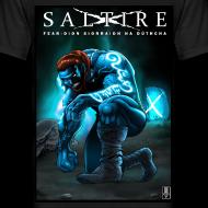 Design ~ Saltire Ionnsaigh Gaelic Tshirt Mens