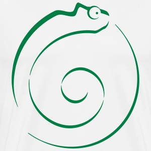 Chameleon outline T-Shirts - Men's Premium T-Shirt