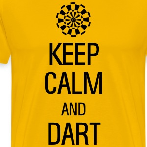 keep calm and darts Magliette - Maglietta Premium da uomo