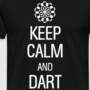 keep calm and darts Tee shirts - T-shirt Premium Homme